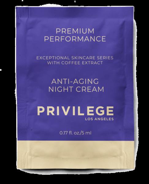 Крем для лица и шеи омолаживающий ночной с экстрактом кофе